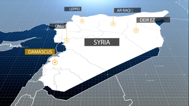Syria map video