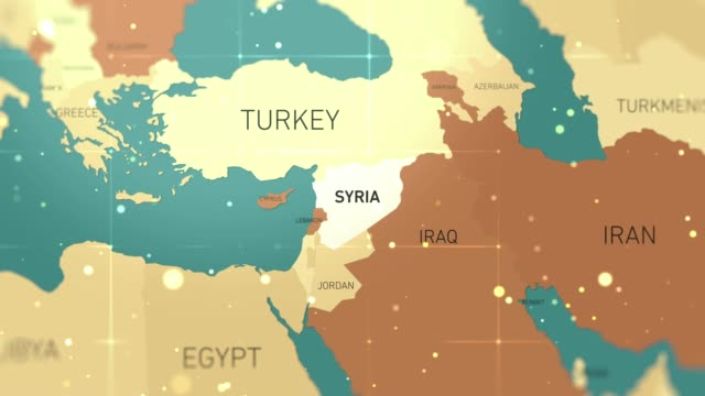 syria on world map stock video - hiroshima filmów i materiałów b-roll