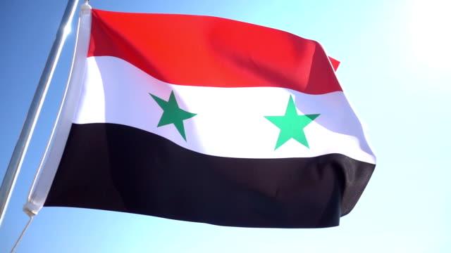 Syrian Flag 1080p, Slowmotion, syria stock videos & royalty-free footage