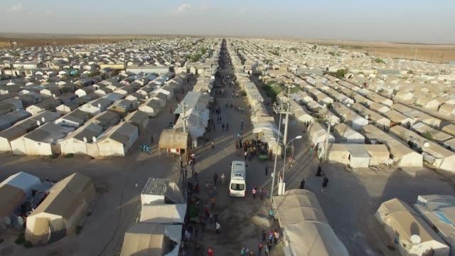 syrian refugees camp in sanliurfa, turkey. - турция стоковые видео и кадры b-roll