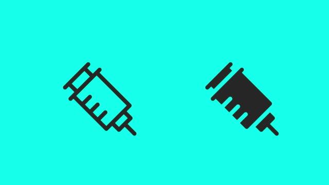 sprutan ikoner - vektor animera - injektionsspruta bildbanksvideor och videomaterial från bakom kulisserna