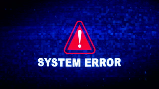 system error text digital noise twitch glitch distortion effect error animation. - errore video stock e b–roll
