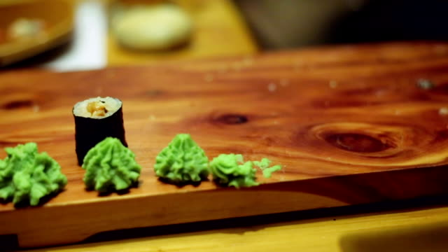 Table at sushi bar video