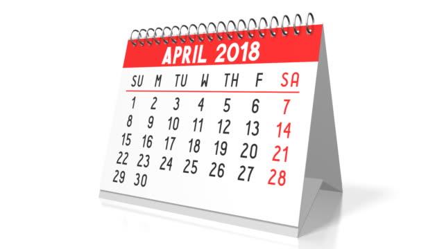 vidéos et rushes de calendrier de table 3d de 2018 - 2018