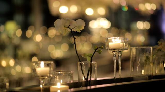 vidéos et rushes de décoration de table - banquet