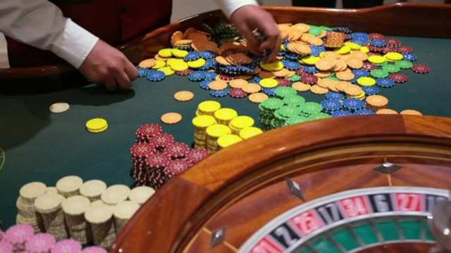 table game in a casino with the roulette