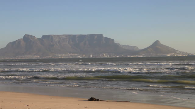 Table Mountain Cape Town South Africa View from Blouberg beach of table mountain south stock videos & royalty-free footage