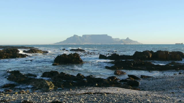 table mountain in cape town, south africa view of table mountain, cape town cape peninsula stock videos & royalty-free footage