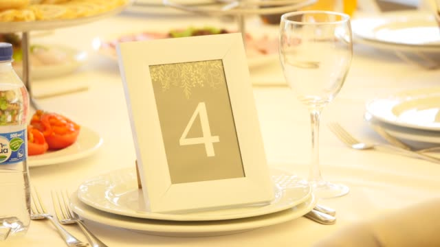 Table number decoration at the party video