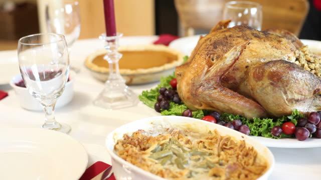 Table set for Thanksgiving dinner video
