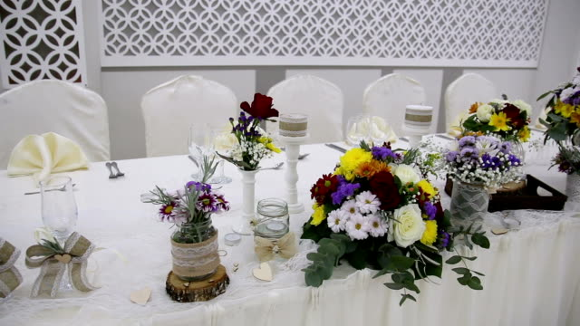 Table setting for an event party video