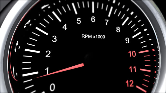 tachometer of a powerful race cars that run the accelerator
