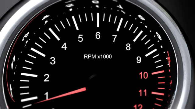 tachometer of a powerful race cars that run the accelerator video