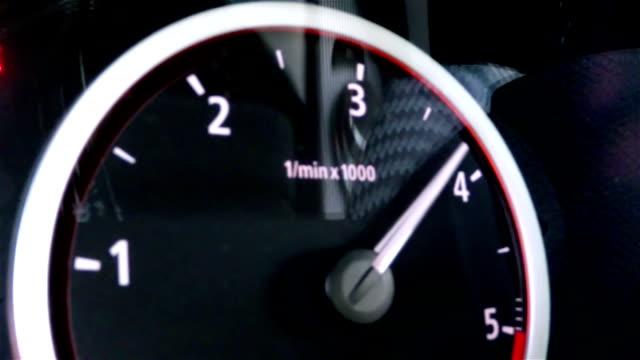 Tachometer turning video