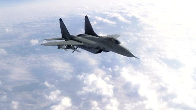 vídeos y material grabado en eventos de stock de aviones a reacción del caza táctico - air force