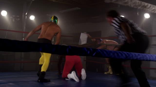 タグチームレスリング ビデオ
