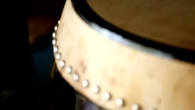 taiko drum head detail shift focus video