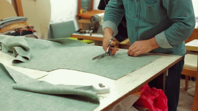 Tailor Cutting Textile