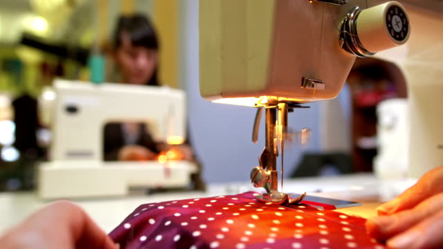 HD: Tailors Working On Sewing Machines video