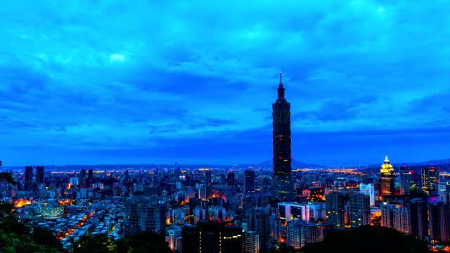 Taipei City Of Sunrise timelapse video