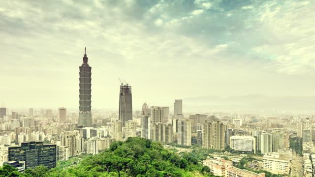 Taipei Skyline and Taipei Tower video