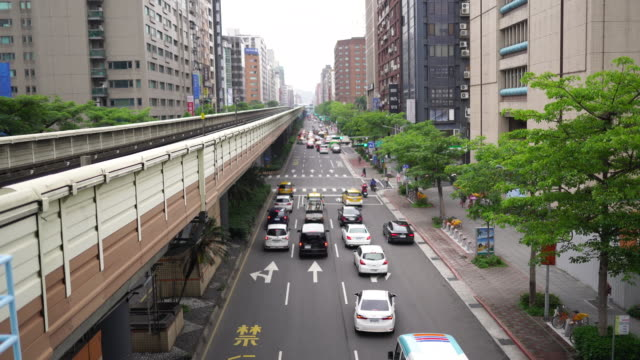 Taipei streets from above