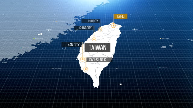 Taiwan map with label then with out label Taiwan map with label then with out label china east asia stock videos & royalty-free footage