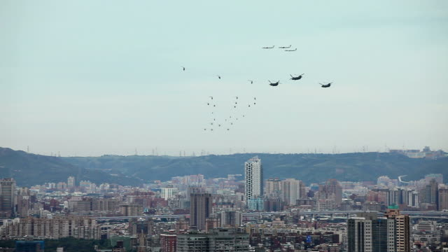 Taiwan Military Aircraft in Formation