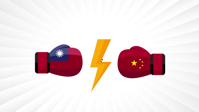 Taiwan vs China. Concept of trade war, fight, sport match or war between taiwan and china. Taiwan vs China. Concept of trade war, fight, sport match or war between taiwan and china. international match stock videos & royalty-free footage