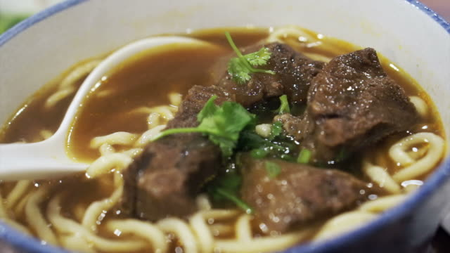 Taiwanese, Chinese Beef noodle Taiwanese, Chinese Beef noodle beef stock videos & royalty-free footage