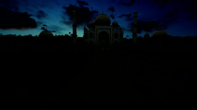 Taj Mahal, beautiful timelapse sunrise, camera pan video