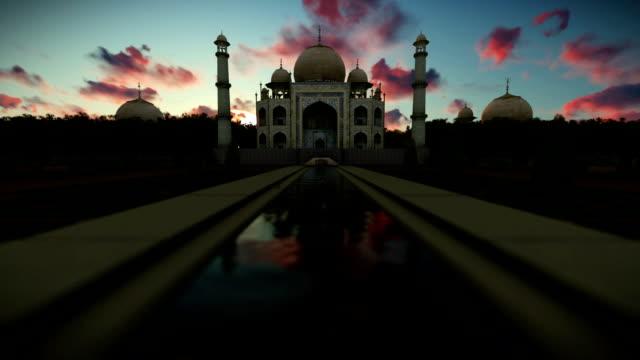 Taj Mahal, beautiful timelapse sunrise video