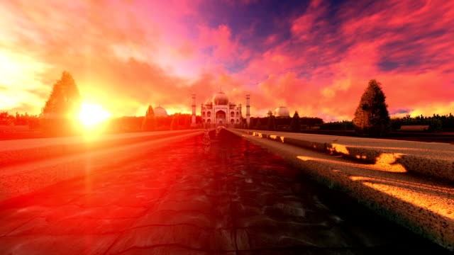 Taj Mahal On An Amazing Sunset video