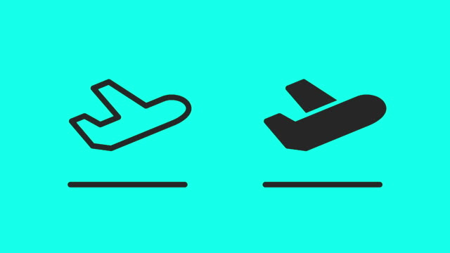 Takeoff and Landing Icons - Vector Animate video