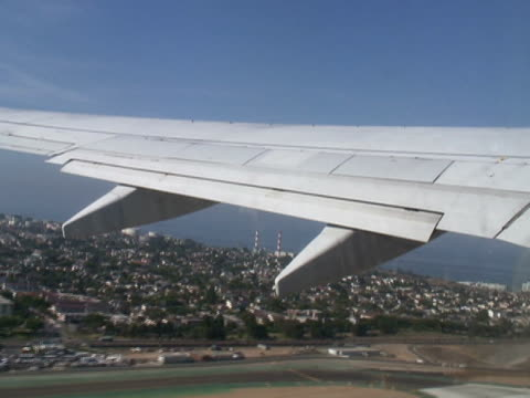 Takeoff: Commercial Aircraft Takes Off, Looking Out - Time Lapse video