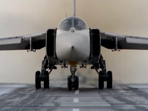 Takes off and landing of military planes. Demonstration of Russian arms. airfield stock videos & royalty-free footage