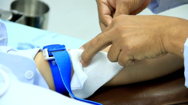 Taking a blood sample. video