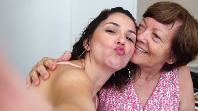Taking a selfie with the Grandmother