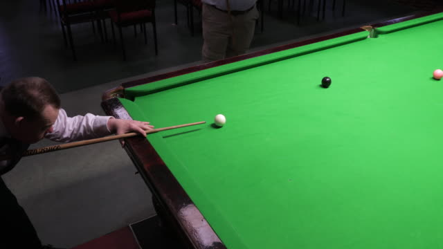 Taking a Snooker Shot