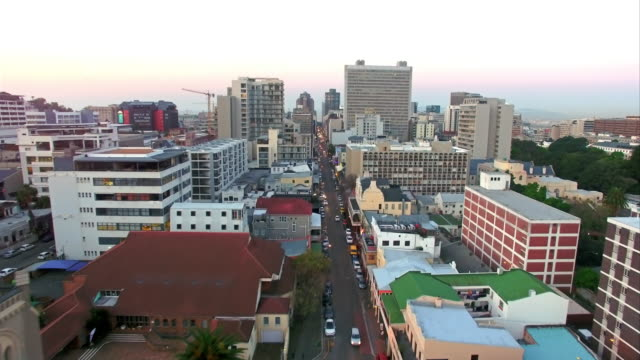 Taking in the view above Long Street 4k aerial drone footage of Long Street in the city of Cape Town, South Africa cape town stock videos & royalty-free footage