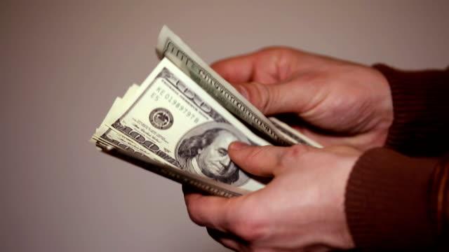 Taking money (HD) video