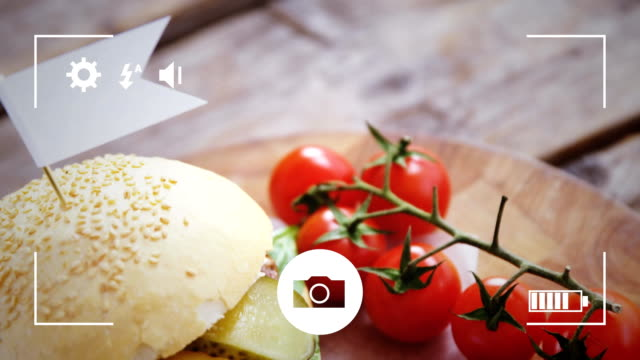 Taking photos of food on a digital camera