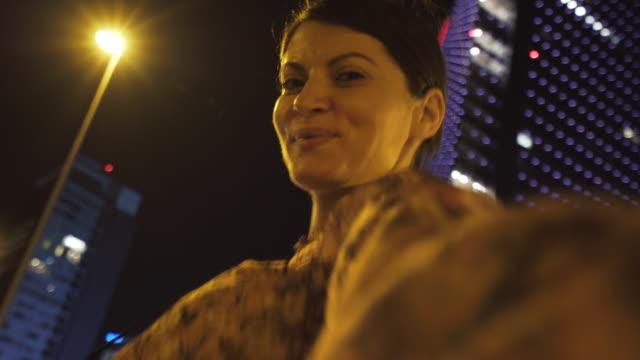 Taking selfie in the city. video