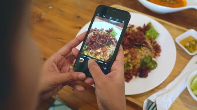 Taking shot of Thai food