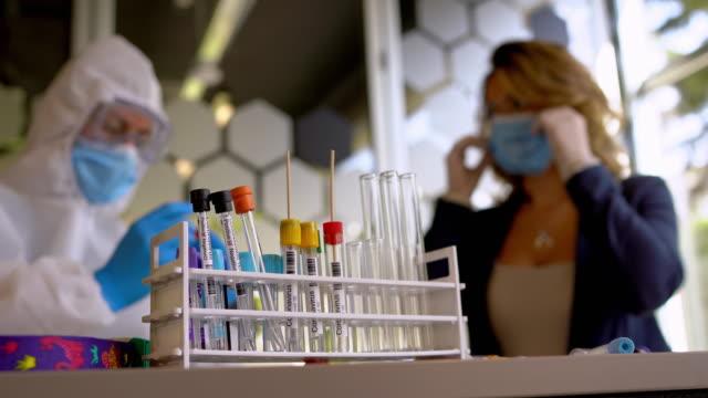 swab alma - coronavirus testi - covid testing stok videoları ve detay görüntü çekimi