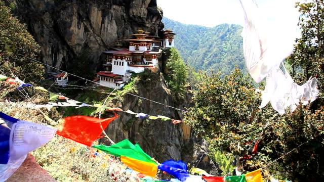 taktshang kloster, bhutan, paro - nest stock-videos und b-roll-filmmaterial