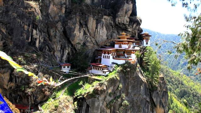 taktshang palphug-kloster in bhutan - kloster stock-videos und b-roll-filmmaterial