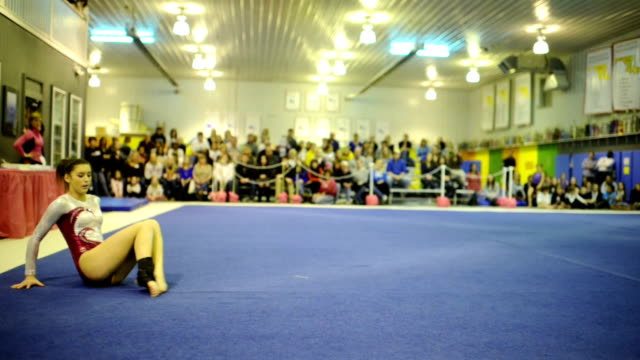 Talented Gymnast Performs Floor Routine video