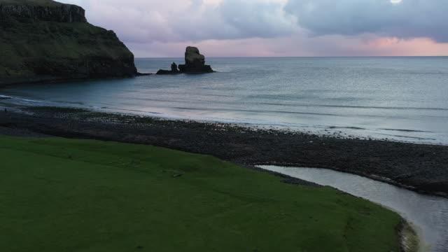 Talisker Bay Beach Talisker Bay Beach in Scotland, UK. scotland stock videos & royalty-free footage