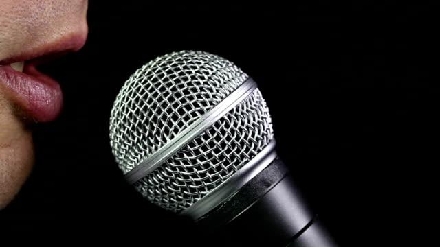 Talking In microphone video